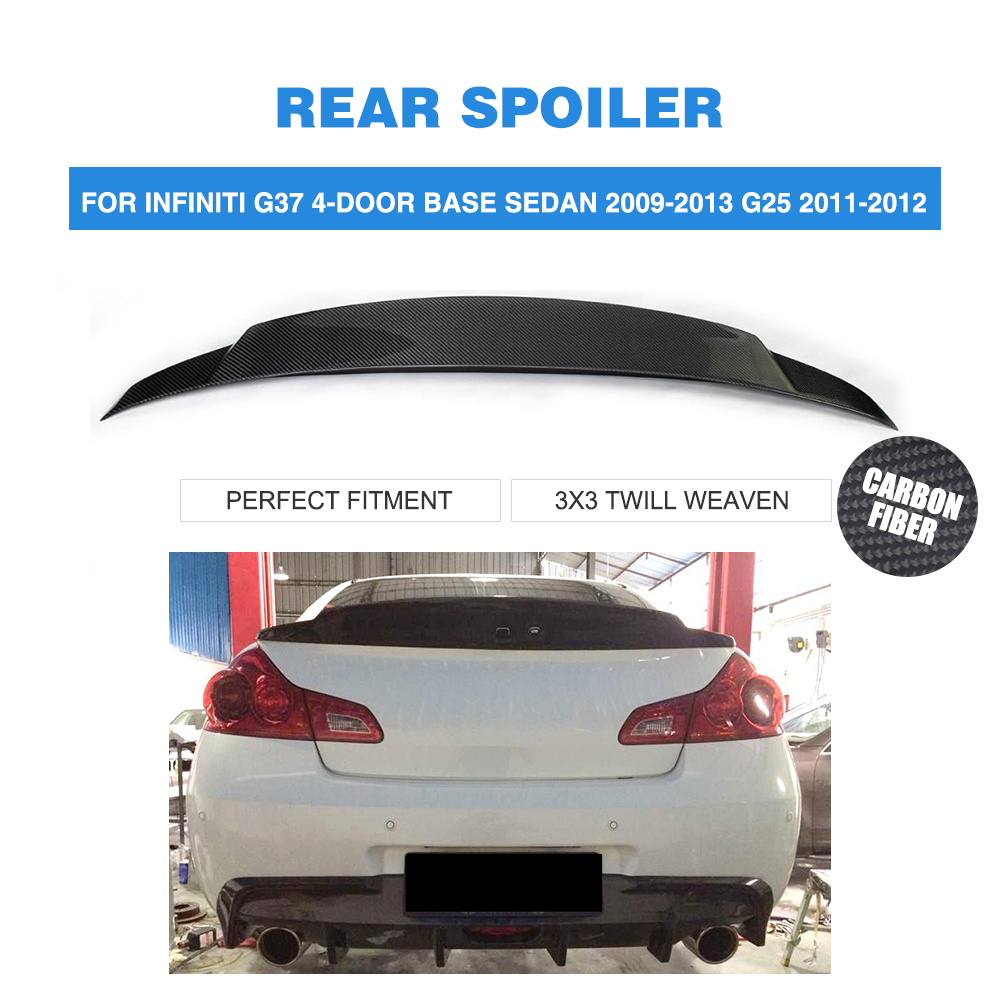 G37 Carbon Fiber rear Trunk boot spoiler Wing for infiniti G37 4-Door BASE sedan  journey sedan 2010-2013 Car Styling 2007 bmw x5 spoiler