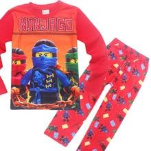 Children Autumn Pajamas clothing Set Boys girls Ninjago Sleepwear Suit Set font b kids b font