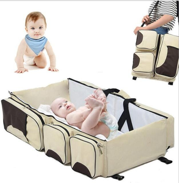 Baby Kingdom.Mum's Travel Handbag change Baby's Bed.Newborn Crib Pad Protection Cot Bumper Bedding Accessories for Infant Room-3