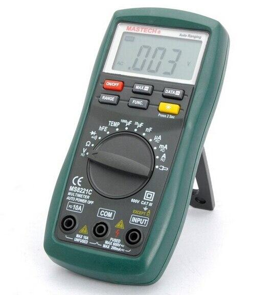 ФОТО Mastech MS8221C Digital Multimeter Auto/Manual Ranging DMM Temperature Capacitance hFE Test