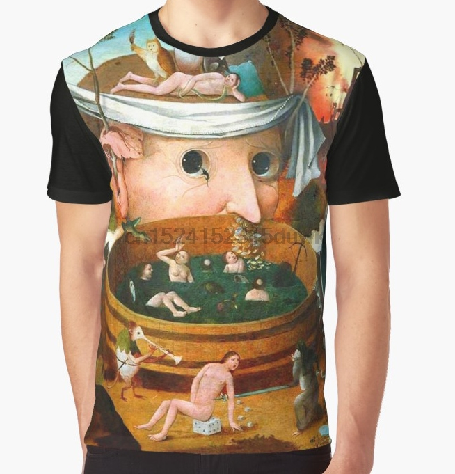 All Over Print T-Shirt Men Funy Tshirt The Vision Of Tondal Hieronymus Bosch Short Sleeve O-Neck Graphic Tops Tee Women T Shirt
