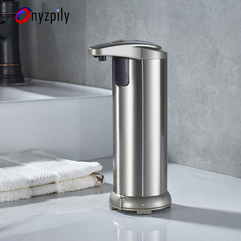 280lm Automatic Liquid Soap Dispenser Stainless Steel Sensor Soap Dispenser Pump Shower Kitchen Soap Bottle for Bath/Washroom 280lm automatic liquid soap dispenser stainless steel sensor soap dispenser pump shower kitchen soap bottle for bath washroom