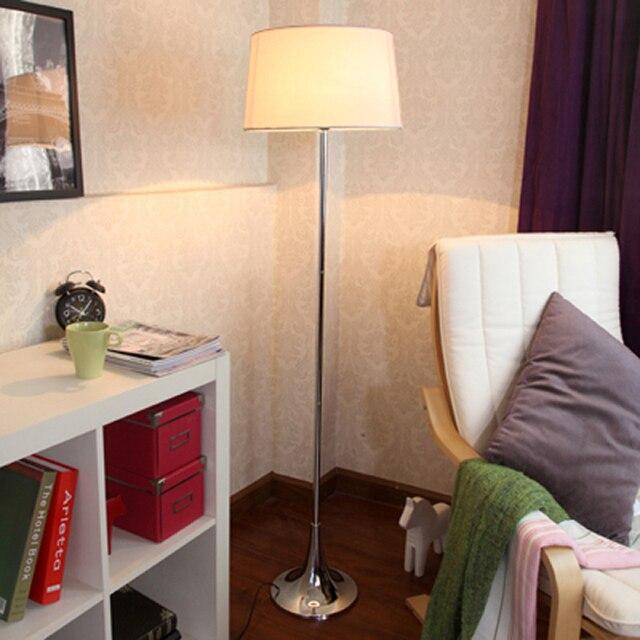 Stile nordico ferro + panno lampada da terra camera da letto lampade ...