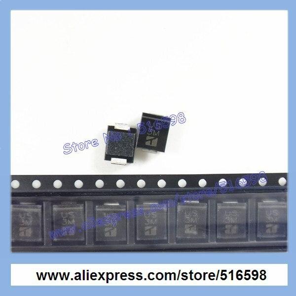 24 V 2 Pins SMCJ24A Unidirectional TVS Diode Pack of 50 SMCJ24A SMCJ Series 38.9 V DO-214AB