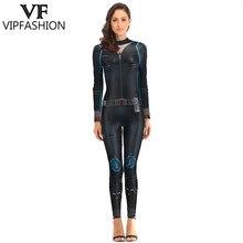 VIP FASHION 2019 New Design 3D Marvel Super Hero Black Widow Suit Print Costumes For Ladies Party Jumpsuit Cosplay Bodysuit майка print bar black widow