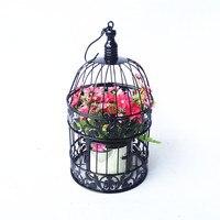 Caioffer Nero Gaiola Decorativa di Modo Piccoli Grandi Gabbie Per Uccelli di Ferro Classico Antico Birdcage Per Il Partito Decorazione di Cerimonia Nuziale CXA16