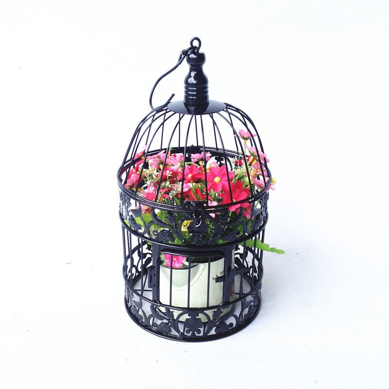 gaiola caioffer negro decorativa de moda pequeas grandes jaulas antiguas del pjaro jaula de hierro clsico