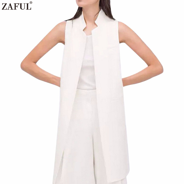 Veste sans manche femme blanc