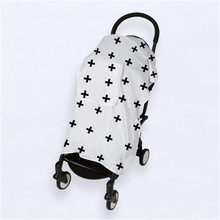 100% Muslin Cotton Newborn Baby Blanket Stroller Cover Breathable Sun Shade Canopy Dust-proof Accessories