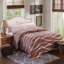 Barato de Alta calidad 200×230 cm manta de tiro/manta de lana en la cama, suave franela invierno manta de sofá colcha caliente