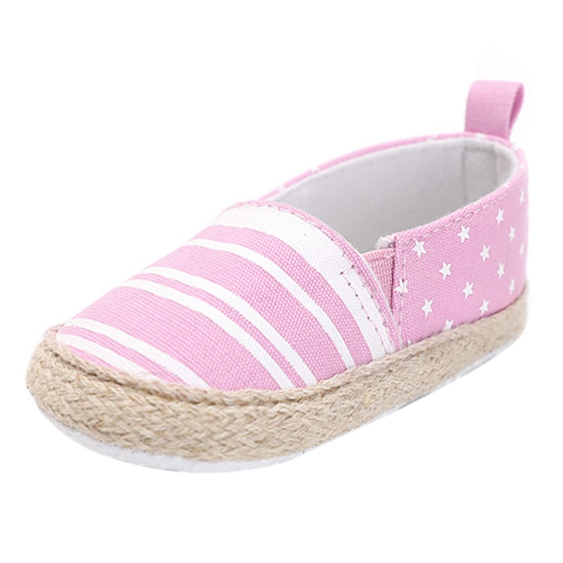 Fashion Baby Shoes Soft Unisex Striped Shallow Shoes Indoor Toddler Shoes First Walkers Walking Shoes 0-24M Newborn Gifts