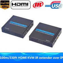 Excessive High quality 1080P HDMI KVM Extender 100m IR & Loop Out HDMI USB Keyboard Mouse Extender Over TCP IP Community RJ45 Cat5e/6 Cable
