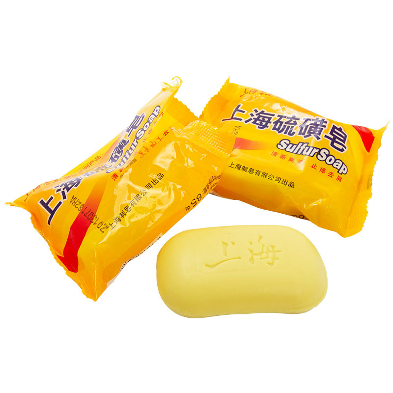 85 г Шанхай серы Мыло 4 условия кожи Угри Псориаз Себорея Экзема Анти Гриб духи Bubble Butter Для ванной здоровый Мыло S