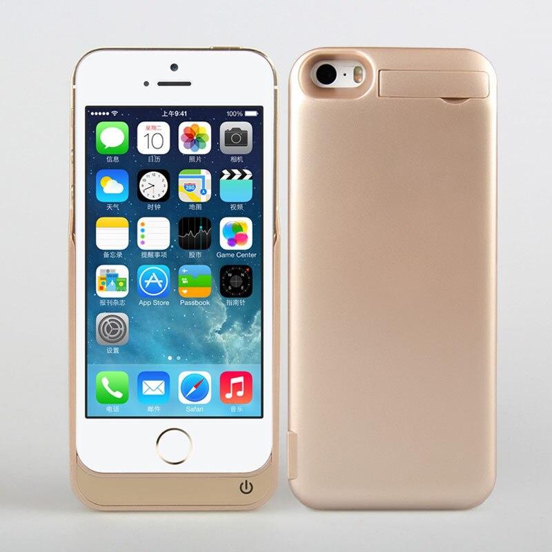 imágenes para Caso de la energía 4200 mah portátil de baterías de teléfono prolongada para apple iphone 5 5s 5c cubierta de carga powerbank