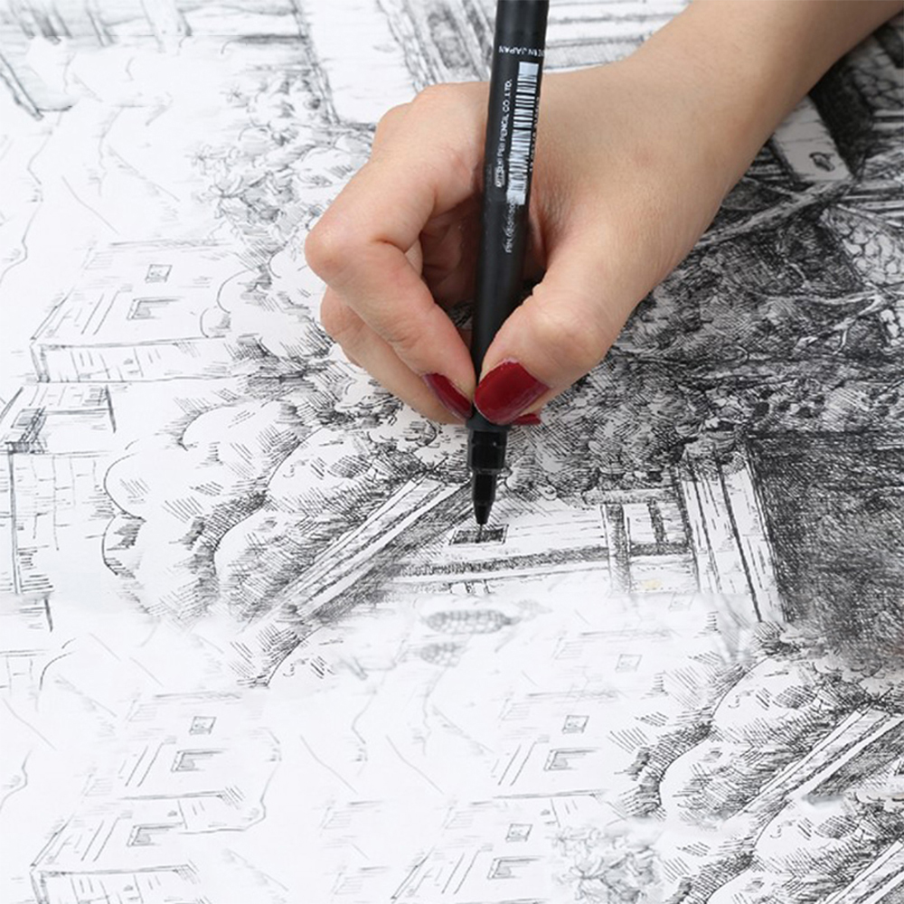 6pcs/lot Liner Pigma Pigment Micron Gel Pen Fineliner Ultra Fine Art Marker Arties Drawing Supplies Stationery