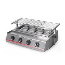 купить New Arrival Gas BBQ Grill 4 Burners Gas Griddle Plancha Stainless Steel/Glass Cover LPG Outdoor Barbecue Tools churrasqueira по цене 14346.89 рублей