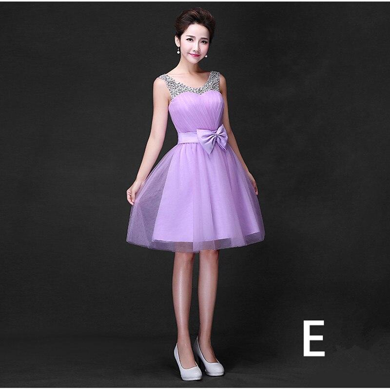 Cielo azul corto de dama de honor del diseño formal 5 estilos ...