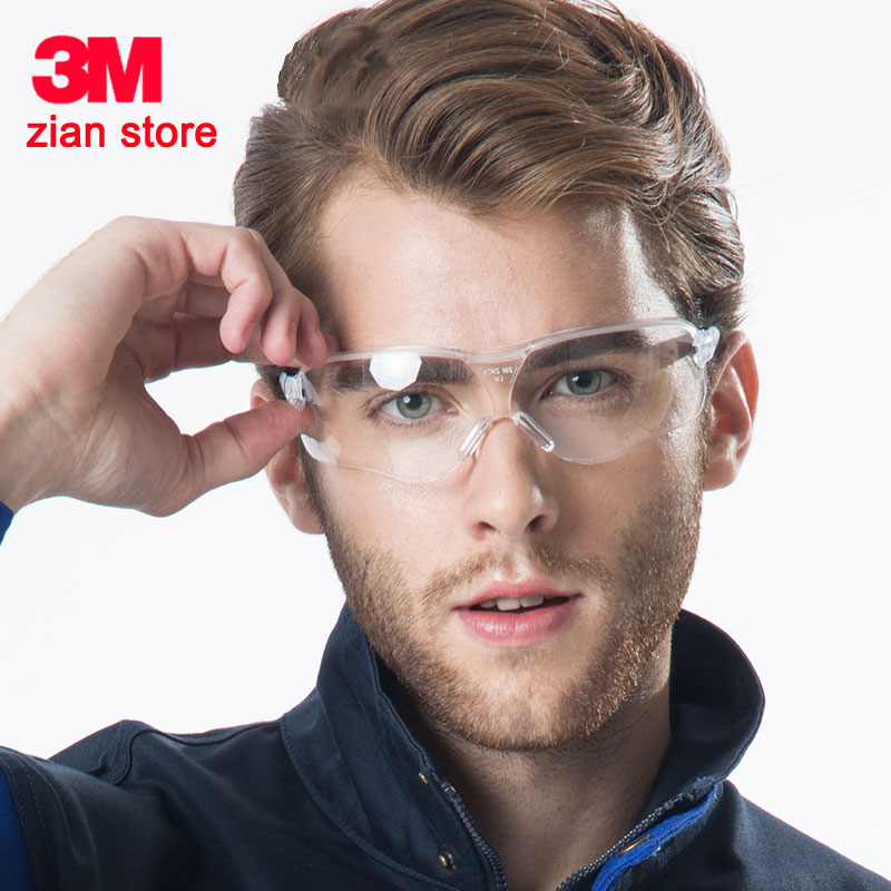 3M 10436 Safety Goggles men fashion Sunglasses Outdoor work Sports Cycling Anti UV Shock dust Resistantm UV Glasses