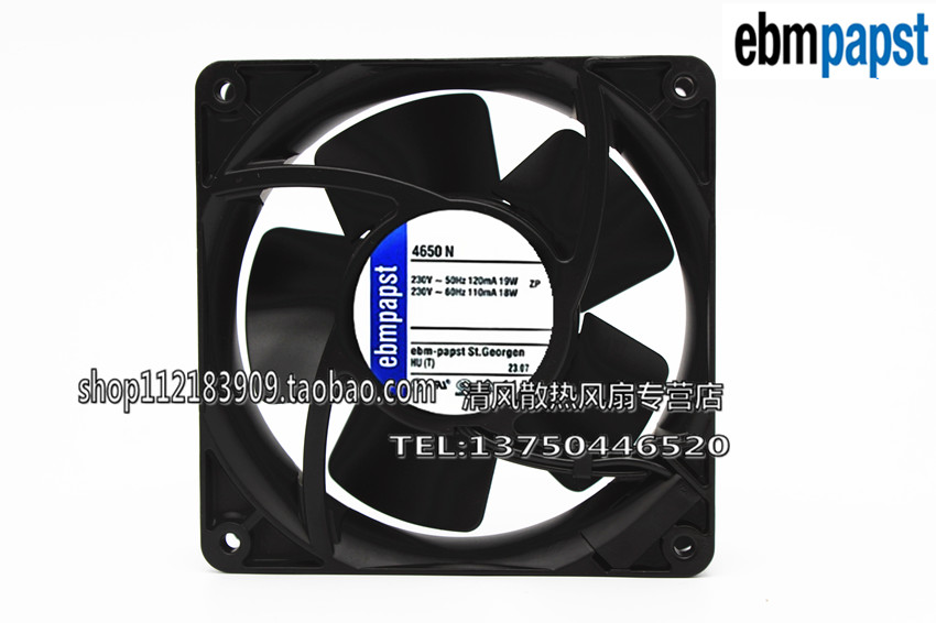 AC220V for ebmpapst 4656N Waterproof and high temperature resistance Cooling fan ebmpapst a6e450 ap02 01 ac 230v 0 79a 0 96a 160w 220w 450x450mm server round fan outer rotor fan