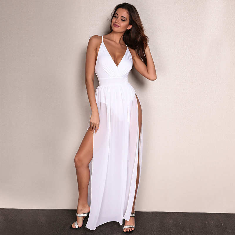 HTB1mVvURXXXXXb0XXXXq6xXFXXXm - Feditch Chiffon Beach Dress Hot Sale Boho Maxi Dress Sleeveless V Neck White Party Desses Bodycon Women Sundress Vestido