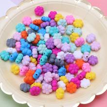 10 PCS Multi-Colors 15 MM Double-faced Flower Silicone Beads Teething Beads For DIY Necklace BPA Free(China)