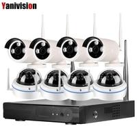 8CH 1080 P Kiti Kamera IP CCTV Seti Güvenlik Kamera Sistemi Kablosuz Wifi NVR Ev Gözetim Açık Gece Görüş 960 P 720 P