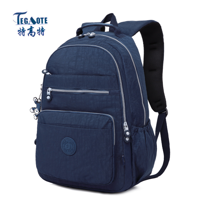 TEGAOTE 2018 Women Backpack for Teenage Girls Kipled Nylon Backpacks Mochila Feminina Female Travel Bagpack Schoolbag women bag цена