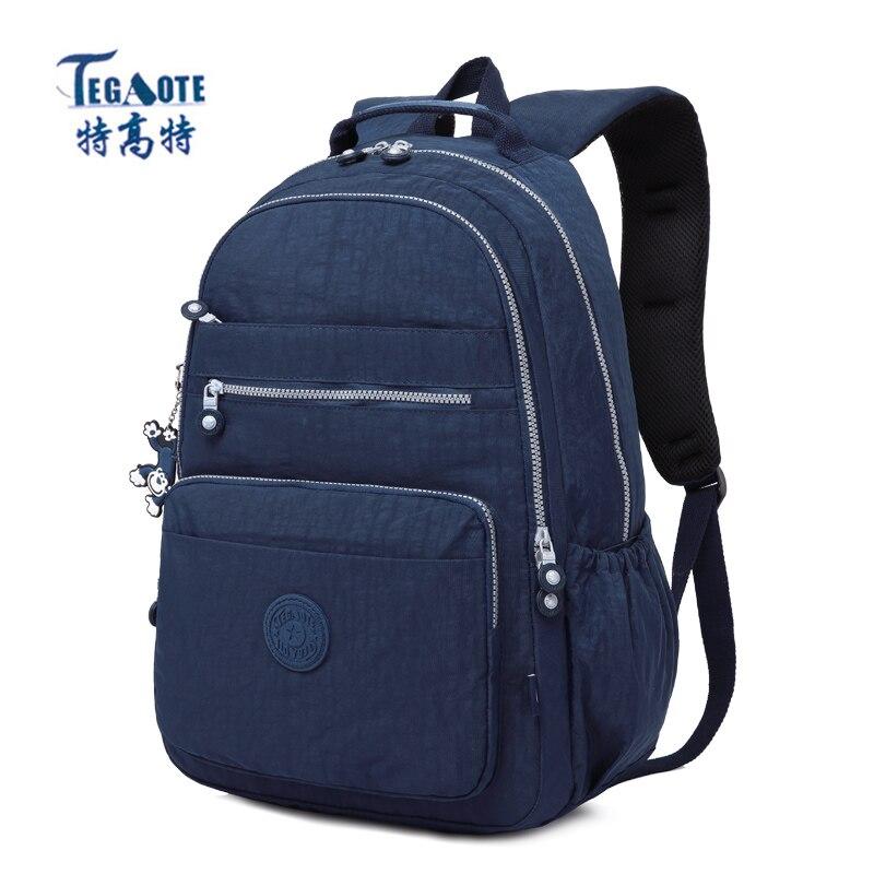 TEGAOTE 2019 femmes sac à dos pour adolescentes Kipled Nylon sacs à dos Mochila Feminina femme voyage sac à dos cartable femmes sac