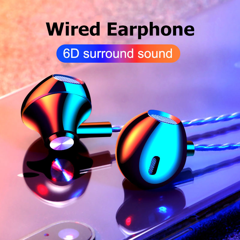 Wired Earphone In-ear Headset Earbuds Stereo Bass Earphones For IPhone 7 Samsung Xiaomi Huawei Sport Gaming Headset With Mic
