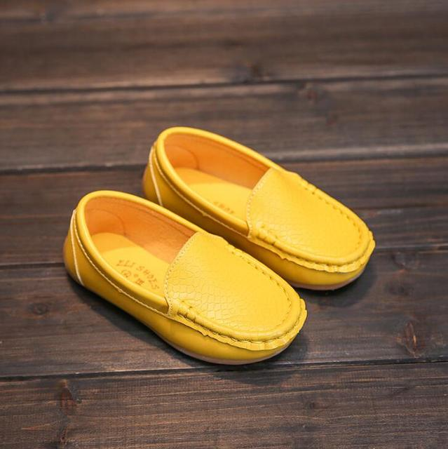 8 Colors Unisex Kids Shoes All Seasons Boys Loafers Soft PU Leather Moccasins Girls Shoes Size 21-37 7HW0336 4
