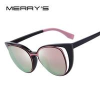 MERRYSTORE Fashion Cat Eye Sunglasses Women Brand Designer Retro Pierced Female Sun Glasses Oculos De Sol