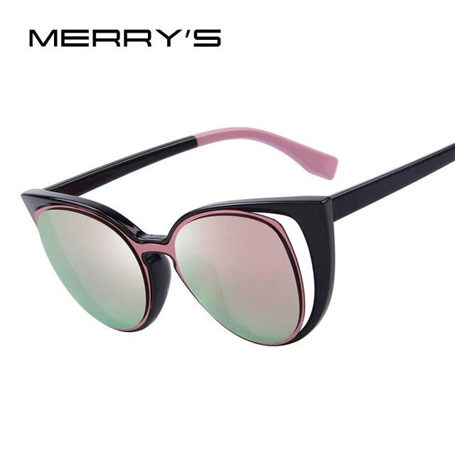 Merrys Модные солнцезащитные очки «кошачий глаз» Для женщин Брендовая Дизайнерская обувь в ретро-стиле с перфорацией женские солнцезащитные очки oculos de sol feminino UV400