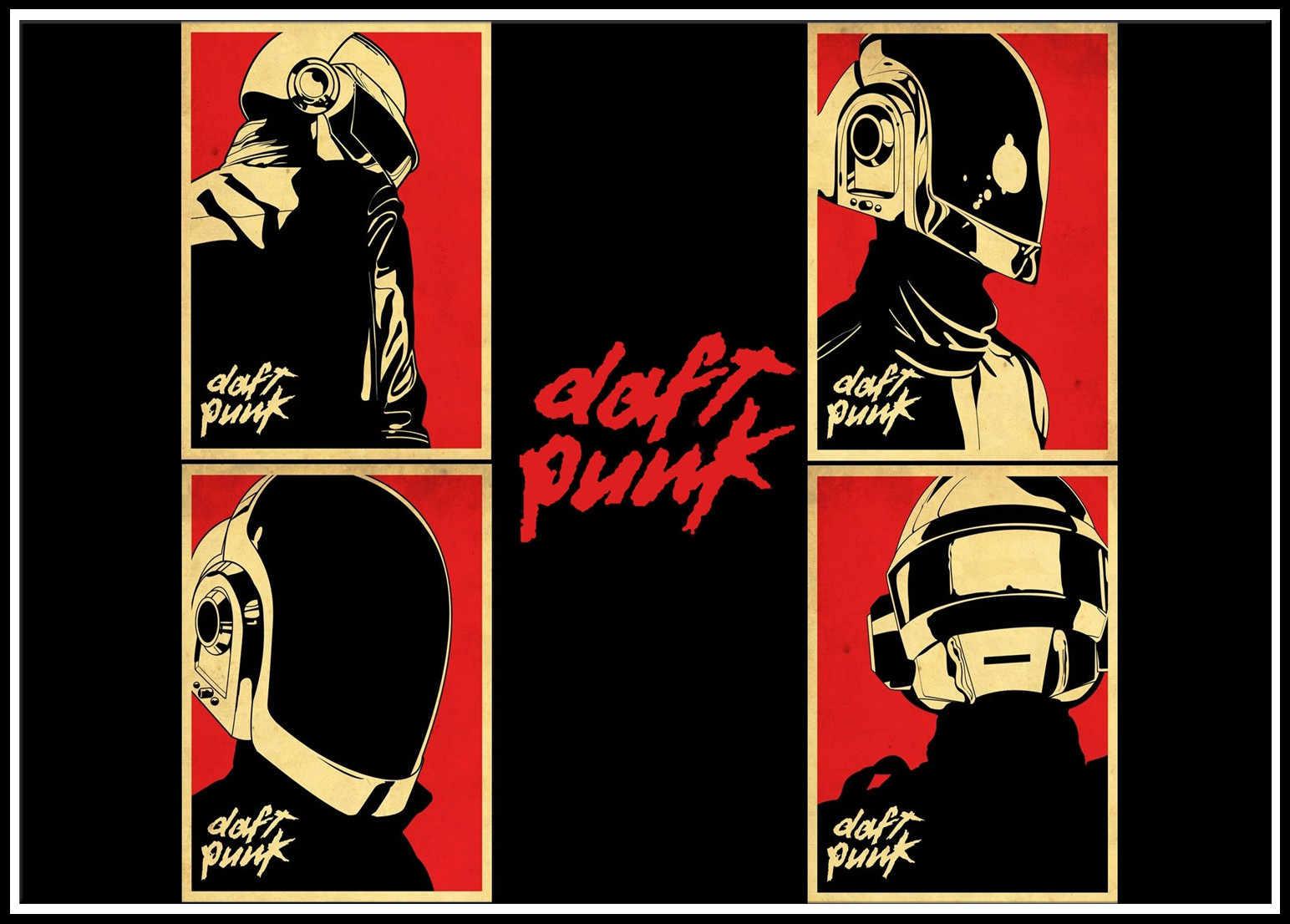Pósteres modernos, banda de música Punk Daft, impresión al óleo, lienzo, imágenes artísticas de pared para sala de estar, decoración del hogar 2001