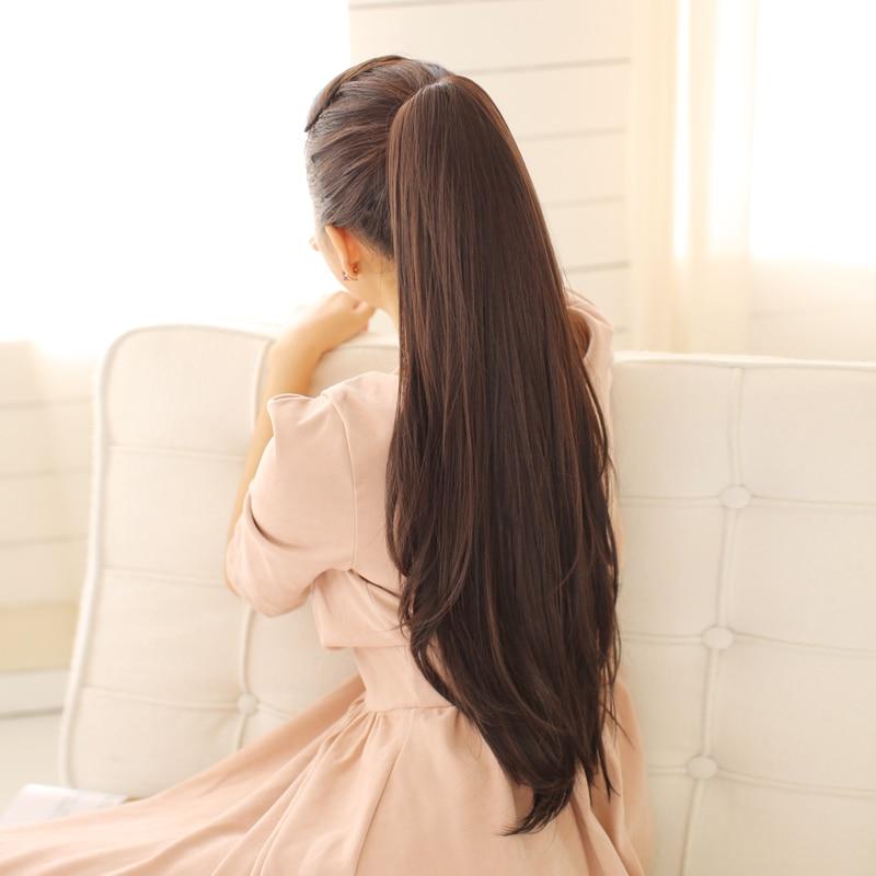 SHANGKE 24 '' Длинный прямой конский хвост - Синтетические волосы - Фотография 3