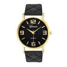 Unisex Watch 8Colors Montre Homme Geneva PU Leather Quartz Wrist Watches Casual Women Clock Saat Fashion horloge Feida