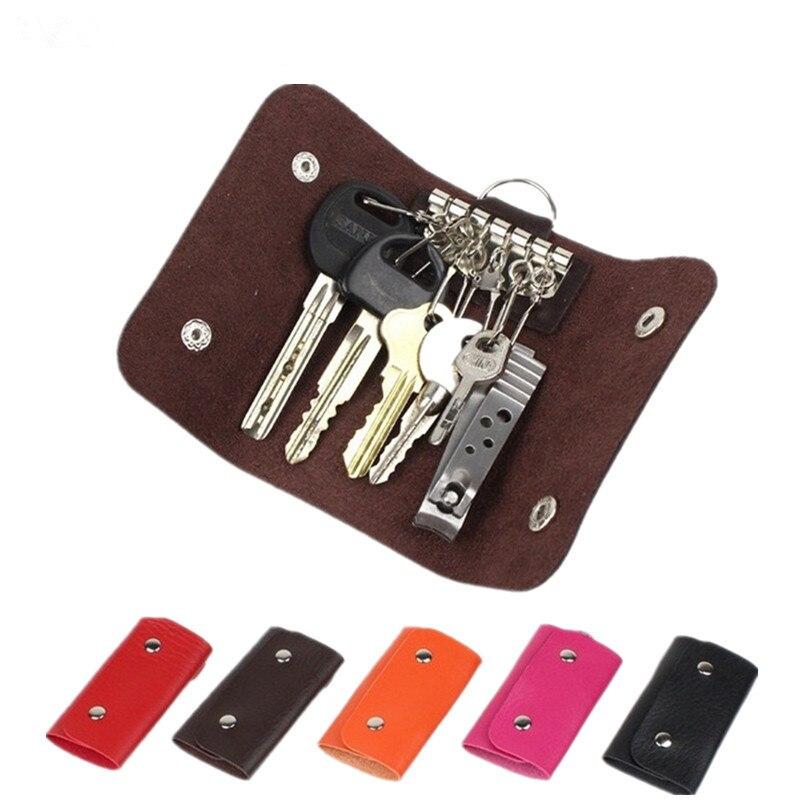 2019 Women Men Hot Sale Key Holders Keys Organizer 5 Colors Fashion Solid Key Wallets Key Pouch Car Keychain Housekeeper W015