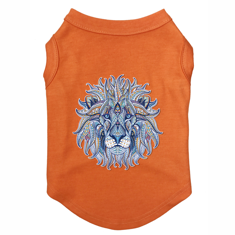 Blue lion clothing Printed T-Shirts Pet Puppy Clothes Shirts Tee Polyester Clothes Tank Tees Top for All Seasons Hot sale
