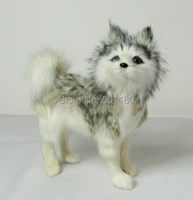 free shipping artificial dog artificial animal decoration toy  mini husky dog model