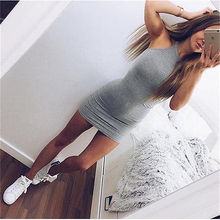 2016 New Women Bandage Bodycon Sleeveless Evening Sexy Party Mini Short Dress Summer