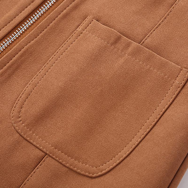HTB1mVx0kk.HL1JjSZFuq6x8dXXat - Suede Skirt Fashion High Waist Zippers JKP343
