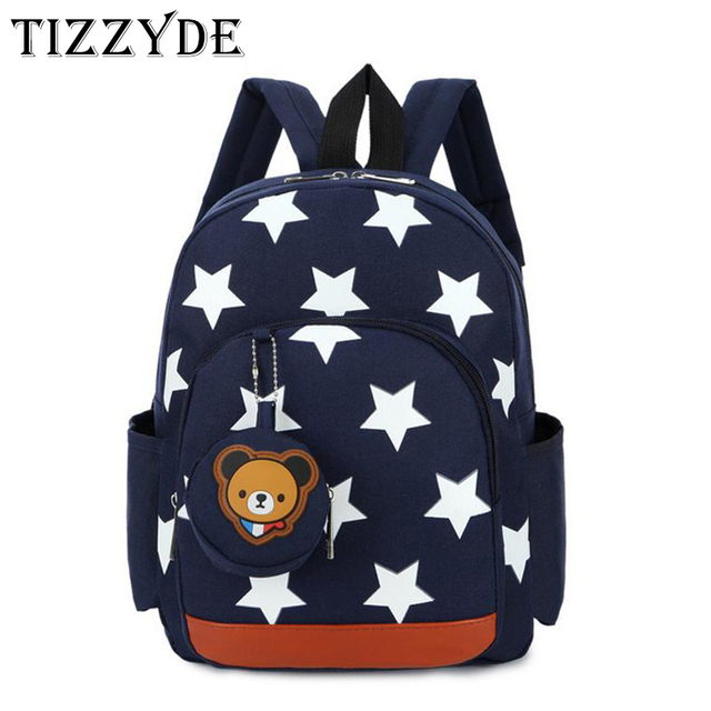 Star Printing Cartoon School Backpack For 3-5 years old Children Boys And  Girls Lovely Schoolbag Backpack Bear MAQ02 743f6357d4ca