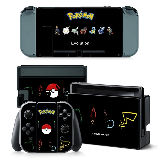 Poke Cover Skin Sticker For Nintend Switch NS Console&Controller Game Sticker Vinyl Decal Protector Nintendoswitch