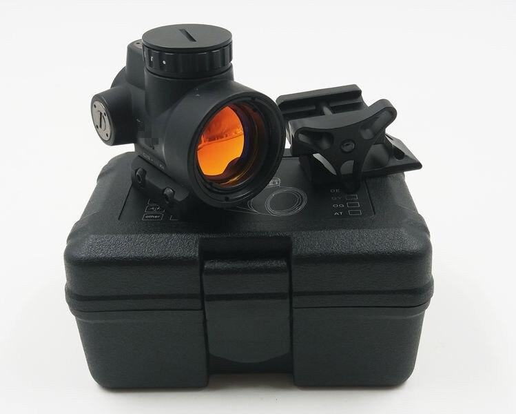 Cadeau Boîte MRO Style Red Dot Sight Holographique Red dot Scope pour Airsoft Noir AVEC Faible montage + QD mont