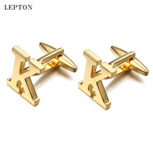 Буквы k Запонки для мужчин с коробкой запонок лептон Высокое