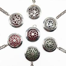 7 UNIDS Estilo de La Mezcla de Plata Tibetana Collar Collar Pendiente Del Locket Del Perfume Aromaterapia Aceite Esencial Difusor de Aroma Con Almohadillas de Regalos