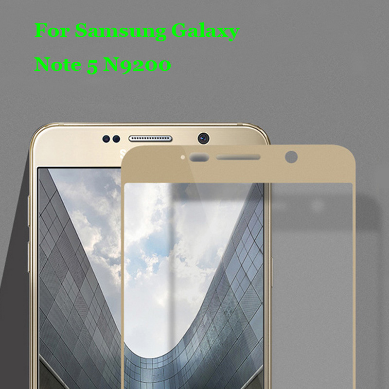 Note 5 N9200 Full Coverage Tempered Glass 9H 2.5D Premium Screen Protector Film For Samsung Galaxy Note 5 V N9200 5.7