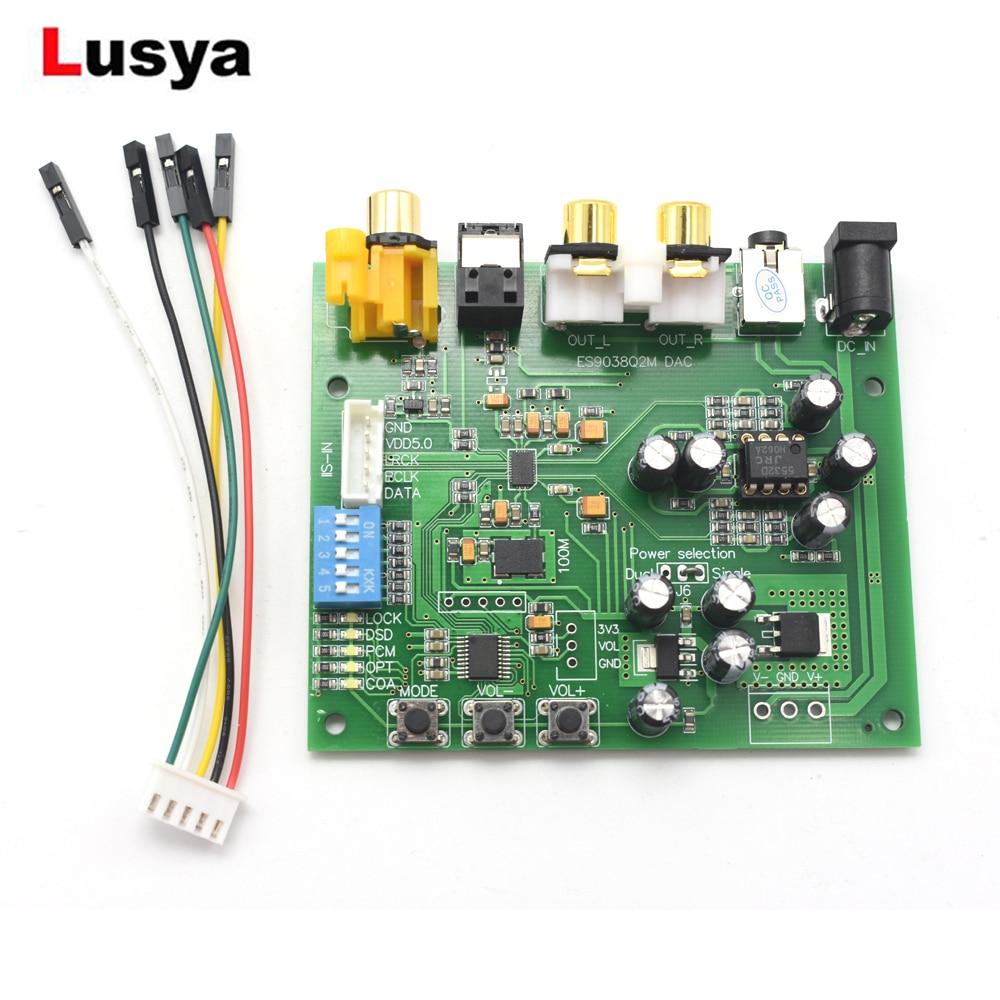 Unterhaltungselektronik Es9038q2m I2s Iis Dsd Dop Coaxial Faser Spdif Digital Audio Dac Decoder Board Rca Tragbares Audio & Video 3,5 Terminal Dc 9-15 V A9-012