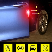 4pcs/Set Auto Warning Mark self adhesive Reflective Tape OPEN Car Door Sticker Tail Rear Bumper Reflector Safety Running Signs