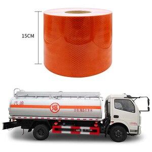 Image 5 - 3M cinturón naranja reflectante de alta calidad, pegatina reflectante automática, cinta de advertencia reflectante naranja