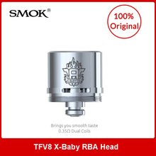 Original SMOK TFV8 X-Baby RBA Coils 0.35ohm Dual Head 1pcs/2pcs Option for TFV8 X-Baby Tank Electronic Cigarette